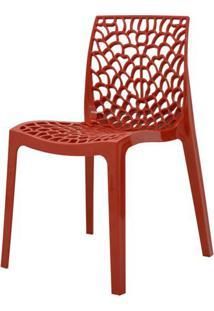 Cadeira Gruver Em Polipropileno Cor Vermelho - 44968 - Sun House