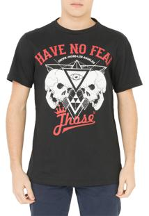 Camiseta Drope Jhose Heave No Fear Preta