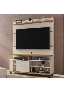 Estante Para Tv Até 52 Polegadas 1 Porta Pérola Off White/Cinamomo - Móveis Bechara