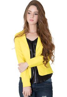 Blazer Rioutlet Fashion Amarelo