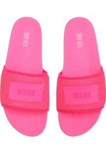 Chinelo Slide Santa Lolla Neon Rosa