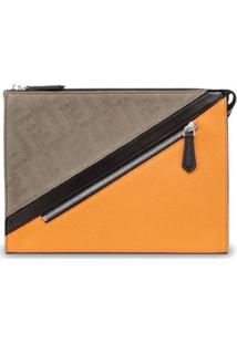 Fendi Clutch Color Block Slim - Neutro