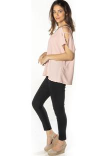 Blusa Lisa Com Tiras - Rosa Clarodwz