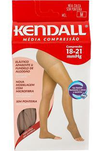 Meia Calça Kendall Feminina Média Compressão (18-21Mmhg) Ponteira Aberta Tamanho M Cor Mel
