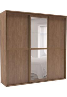 Guarda-Roupa Casal Sofisticato Ii Com Espelho 3 Pt 6 Gv Ébano