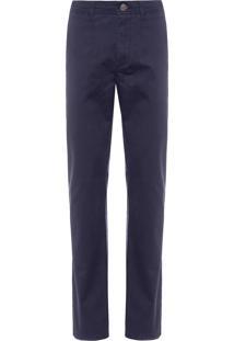 Calça Masculina Chino Stretch - Azul