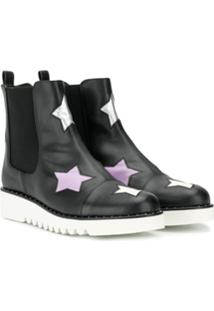 Stella Mccartney Kids Teen Stars Ankle Boots - Preto