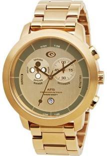 Relógio De Pulso Ripcurl Atlantis Ats - Aço - Feminino-Dourado