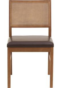 Cadeira Dandara - Couro Marrom