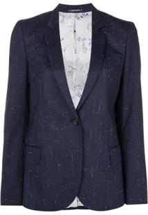 Ps Paul Smith Blazer Com Abotoamento - Azul