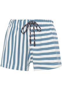 Short Feminino Summer Stripe - Azul