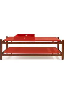 Mesa De Centro Uno Vermelho - Tommy Design
