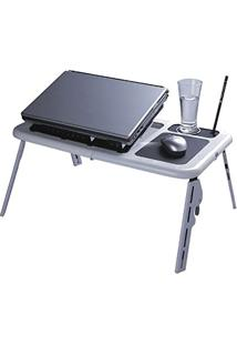 Mesa Portátil Para Notebook Com Cooler (Preto)