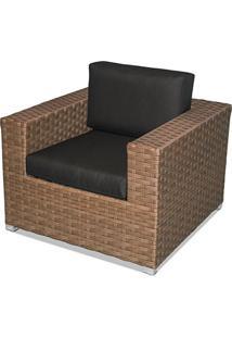 Poltrona Covina Estrutura Aluminio Revestido Em Fibra Cor Madeira - 44665 - Sun House