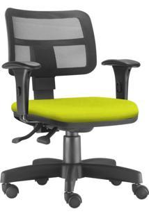 Cadeira Giratã³Ria Executiva Lyam Decor Zip Suede Amarelo - Amarelo - Dafiti