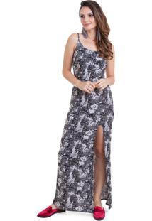 66750c4127 Vestido Alca Fina Longo feminino