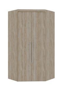 Roupeiro Canto Closet Virtual 2 Portas Sem Espelho Com Gavetas Cedro Madeirado-41274 - Robel