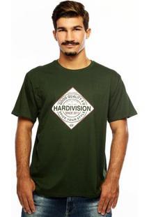 Camiseta Hardivision Spice Manga Curta - Masculino-Verde Militar