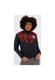 Jaqueta Flamengo Sleeve Feminina Preta