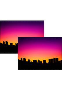 Jogo Americano Colours Creative Photo Decor - Skyline - 2 Peças