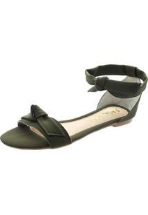 Rasteira Fashion 20 Sandália Verde Militar - Kanui
