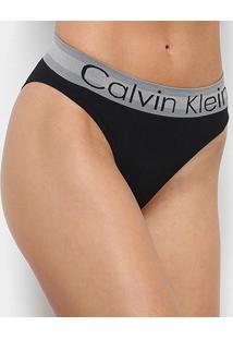 Calcinha Calvin Klein Tanga Sem Costura - Feminino-Preto