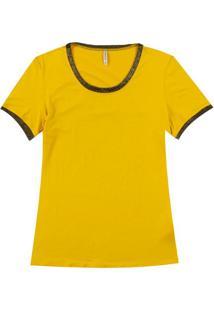 Blusa Feminina Em Viscose Amarelo