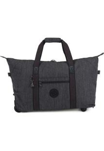 Bolsa Kipling Art On Wheels M - Feminino