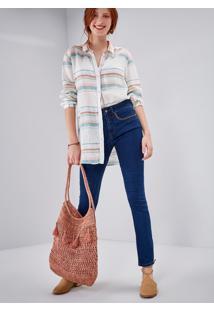 Calça Jeans Skinny Cintura Média Comfort Courito Jeans