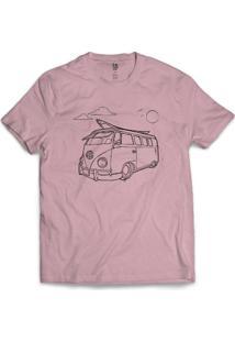 Camiseta Los Fuckers Kombi Rosa - Masculino-Rosa