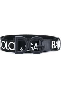 Dolce & Gabbana Cinto Com Logo 'Dg' - Preto