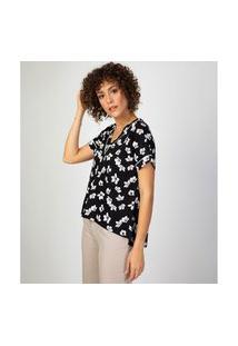 Camiseta Liz Easywear Manga Curta Floral
