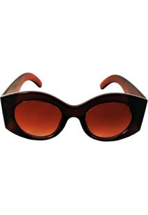 Óculos De Sol Redondo Cayo Blanco Feminino - Feminino-Marrom