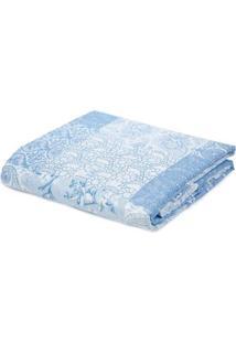 Kit De Colcha Casal Com Porta Travesseiros Andrezza Azul