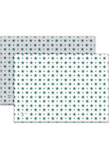 Jogo Americano Mdecore Estrelas 40X28Cm Colorido 2Pçs