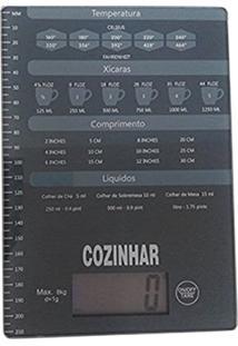 Balanca De Cozinha Digital 8Kg Slim Automatica Com Tabela De Medidas Profissional