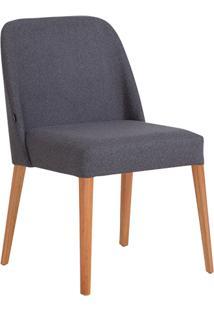 Cadeira Rosini - Base Trigo E Tecido Cinza