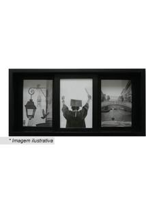 Painel Slide Para 3 Fotos- Preto- 19X38X6Cmkapos