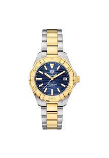Relógio Tag Heuer Feminino Aço Prateado E Dourado - Wbd1325.Bb0320