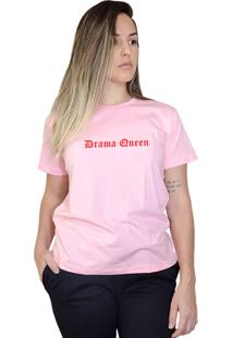 Camiseta Boutique Judith Drama Queen Rosa