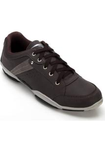 Sapatênis Try Way Bk1200 Grafite-Bordô - Masculino