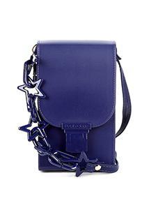 Bolsa Petite Jolie Mini Bag Phone Case Feminina - Feminino-Marinho