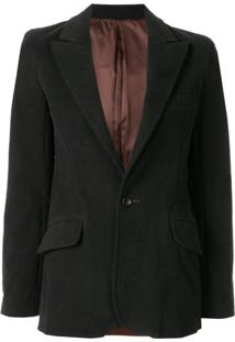 Sulvam Single-Breasted Blazer - Preto