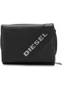 Diesel Carteira Dobrável Texturizada - Preto