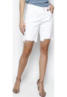 Bermuda Girlfriend Shine - Brancale Lis Blanc