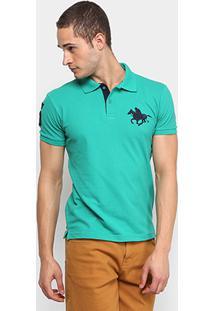 Camisa Polo Rg 518 Piquet Básica Masculina - Masculino-Verde