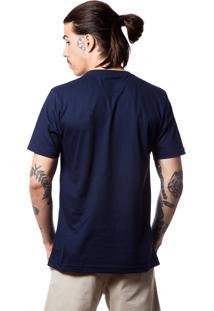 Camiseta Basica Bones 326 Azul Marinho