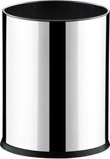 Cesto / Lixeira 4,5L De Aço Inox Com Fundo Plástico Em Design Moder.
