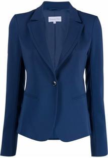 Patrizia Pepe Blazer Essential Com Abotoamento Simples - Azul