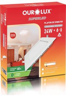 Plafon Quadrado Embutir Branco (2700 K 24W)